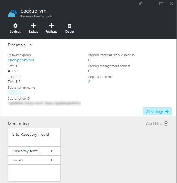 Azure Backup Vault